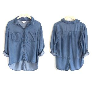 Ava & Viv size X chambray button down shirt